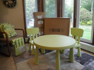 Furniture: Children's IKEA Table &  Two (2) Chair Set