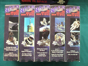 NASA The Greatest Show in Space Box Set of10 VHS tapes