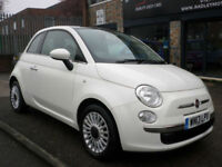2013 Fiat 500 1.2 ( 69bhp ) ( s/s ) LOUNGE 3DR 13 REG Petrol White