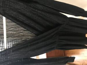 ZARA SMALL COCKTAIL DRESS BLACK WITH A SHIMMER