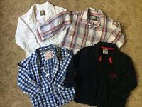 Boys long sleeved shirts Zara Oshkosh