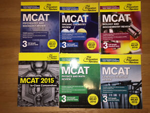 NEW MCAT REVIEW BOOKS (5 SUBJECTS)