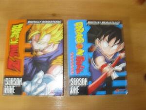 DRAGON BALL SEASON 1  +  DRAGON BALL Z SEASON 9  NEW DVD's
