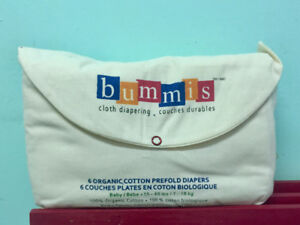 ▽ 6 couches plates Bummis - diapers organic cotton prefolds ▽