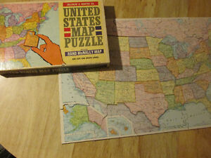 Rand McNally United States USA Map PUZZLE Die Cut Vintage 1960s