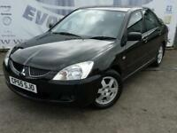 2005 MITSUBISHI LANCER 1.6 ELEGANCE NEW MOT BLACK LEATHER SEATS REAR PARKING SEN