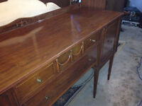 Early to Mid-Century Antique Sideboard / Hutch