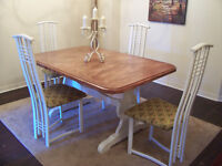 Rustic Chic Large White Dining Set in MINT condition I DELIVER