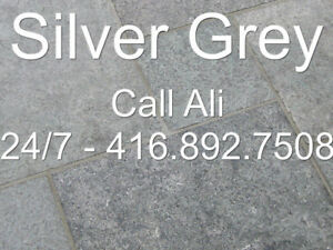 Silver Grey Patio Pavers Square Cut Outdoor Flagstone Paving