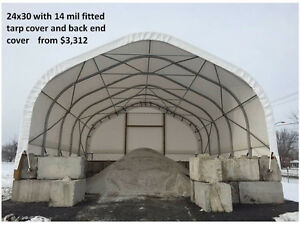 Livestock shelters/Greenhouse / Salt Bin Covers / Equip Storage Peterborough Peterborough Area image 6