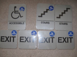 Braille/Tactile Signs-A.D.A. Approved/New -$5 each