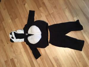 Costume halloween panda - 6@9 mois