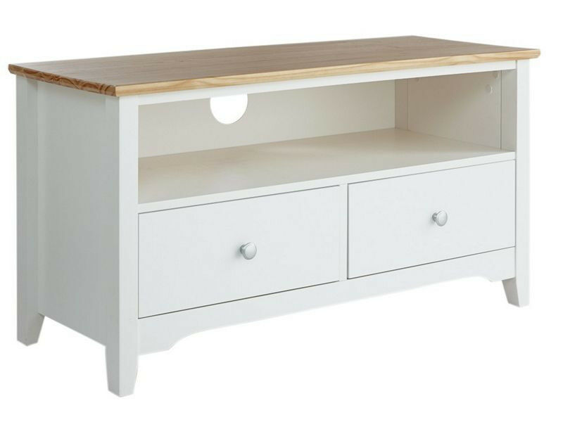 Collection Fairbourne 2 Drawer TV Unit - White