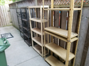 Indoor/outdoor Metal Shelving for Sale!!