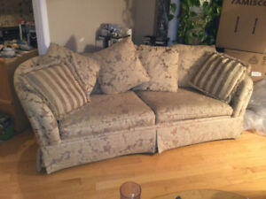 Couch Set Sofa Love seat and Arm Wingback Chair OBO Smoke Free