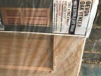 4 panel oak veneer fire door