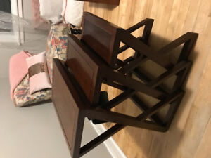 Perfect condition, solid wood nesting tables