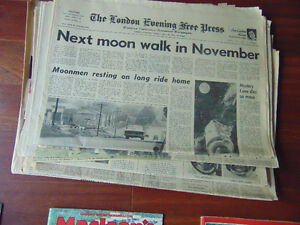 Time Magazines and News Paper on waik on the Moon London Ontario image 5