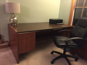 Large desk and office chair