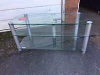GLASS TV STAND ** FREE DELIVERY AVAILABLE TONIGHT **