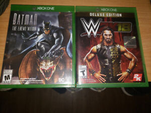 Batman: The enemy within and WWE: Deluxe edition