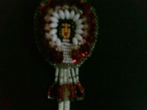 VINTAGE ADORABLE NATIVE SEED BEAD HAND MADE BOLO TIE Kitchener / Waterloo Kitchener Area image 3