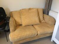 Small 2 Seater Yellow Sofa