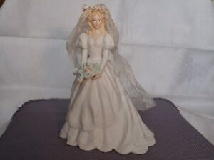 Music Box Bride Holding Flowers Figurine London Ontario image 3