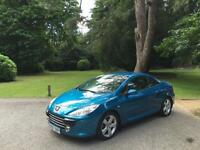 2007 Peugeot 307 CC 2.0HDi 136bhp Coupe 2 Convertible Sport Turbo Diesel Blue