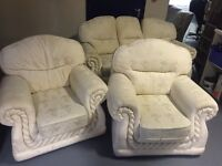 Beige 3 piece Suite for sale
