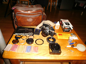 Olympus OM10 Film Camera and Accessories