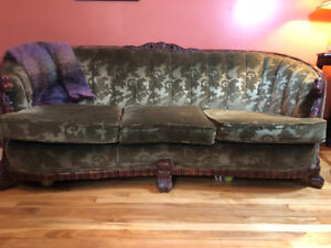 Antique set — sofa, 2 large armchairs NEW PRICE
