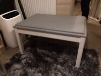 Painted solid wood coffee table