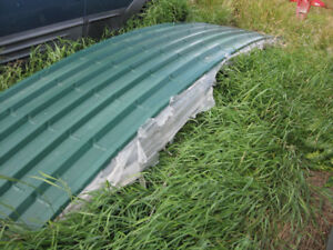 24 Gauge Steel Rounded Roofing (Contour Clad) in Melchers Green