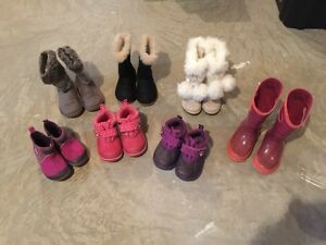 Spring/Fall/Winter Girls  bundle, boots size 9