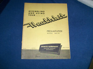 HEATHKIT PREAMPLIFIER MODEL WA/P2 INSTRUCTIONS-1954-VINTAGE!