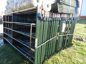 "Livestock Panels 9ft 6in Panels 5 Rail 66"" Tall Corral Panels"
