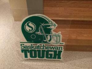 Saskatchewan Roughrider / Taylor Field Plexi Glass Sign
