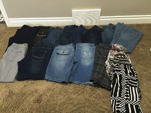 Large lot of women's pants size 12