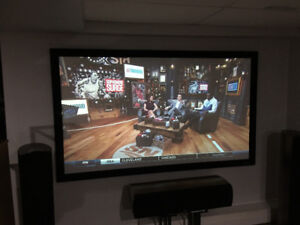 HD Home Theatre TV Epson Projector 8700UB - Fixed Screen 92""