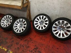 "Genuine bmw 6 series 18"". 4x alloy wheels"