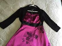 Beautiful Le Chateau dress and Black shrug
