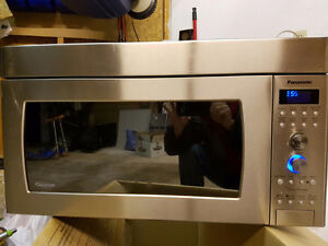 Panasonic stainless steel over the range microwave