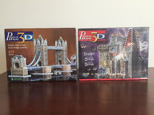 Set Wrebbit Puzz 3D London Tower Bridge & Dracula's Castle