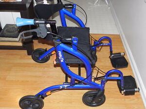 Walker that converts into Wheelchair
