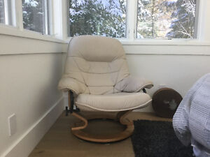 Danish style Leather Recliner Chairs