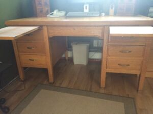 Antique Office Desk and Chair