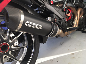 "DUCATI DIAVEL EXHAUST PIPES F/S....""ARROW"" and ""WERKES"""