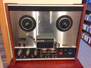 TEAC A-2300S tape deck and tapes