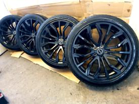 "22"" Genuine Range Rover phantom urban alloy wheels and continental tyr"